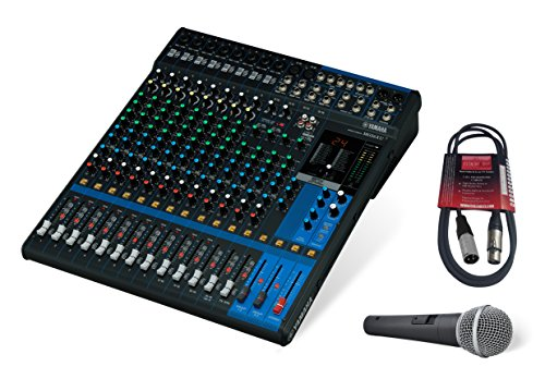 - Yamaha MG16XU 16-Channel Mixing Console Bundle with Pure Resonance Audio UC1S Microphone and Microphone Cable