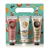 The Body Shop Hand Cream Trio Gift Set, Strawberry, Milk & Honey & Shea, Perfect Stocking Stuffer