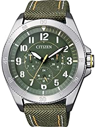 Citizen Eco-Drive Men's Green Dial Watch in Stainless Steel