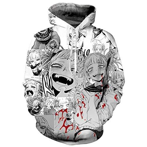 SHKEHO-kehong My Hero Academia Himiko Toga Hoodie Cosplay Costume Sweatshirt Pullover Hooded (4XL, 1)