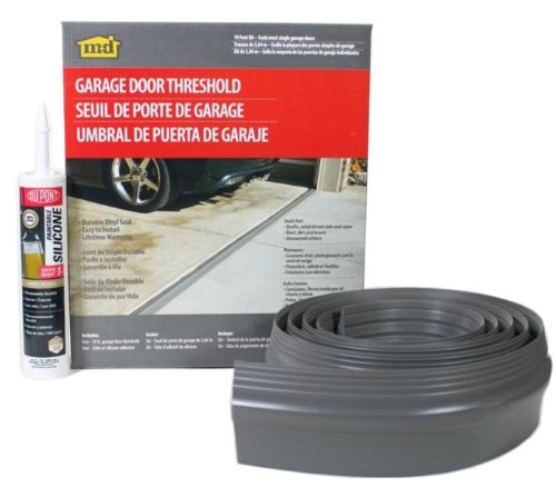 M-D Building Products 50100 M-D Single Garage Door Threshold Kit, 10 Ft L, Vinyl, Gray 10',