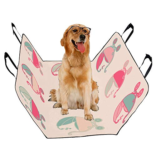 (JTMOVING Fashion Oxford Pet Car Seat Carriage Castle Fairytale Catton Waterproof Nonslip Canine Pet Dog Bed Hammock Convertible for Cars Trucks SUV)