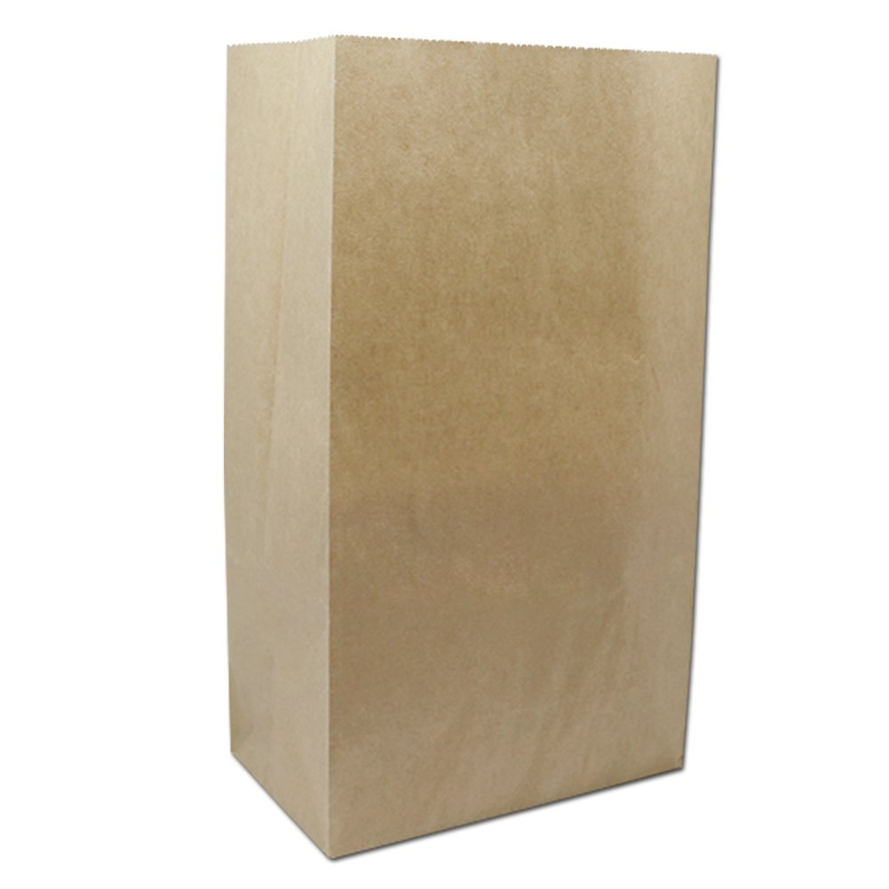 Greaseproof Cupcake Baking Paper Kraft Packaging Bags for Bakery Roasted Pastry 3.15 Mil Thick Paperboard Oil-Proof Takeaway Sandwiches Lunch Paperbag (250, 5.9x3.5x10.6 inch)