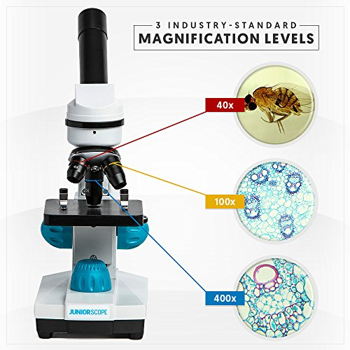 Omano JuniorScope Microscope for Kids Microscope Science Kits for Kids Science Experiment Kits