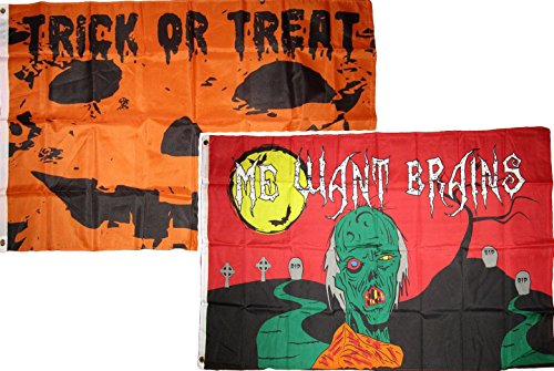 ALBATROS 3 ft x 5 ft Happy Halloween 2 Pack Flag Set Combo #31 Banner Grommets for Home and Parades, Official Party, All Weather Indoors Outdoors for $<!--$39.17-->