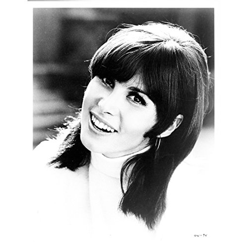 Stefanie Powers 8 Inch x 10 Inch photograph The Girl for U.N.C.L.E. (TV Series 1966 - 1967) B&W Gorgeous in Turtle Neck Smiling - Gorgeous Turtleneck