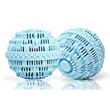 Eco Friendly Wash Ball & Detergent-Free Laundry Ball, Set of 2(Light Blue)