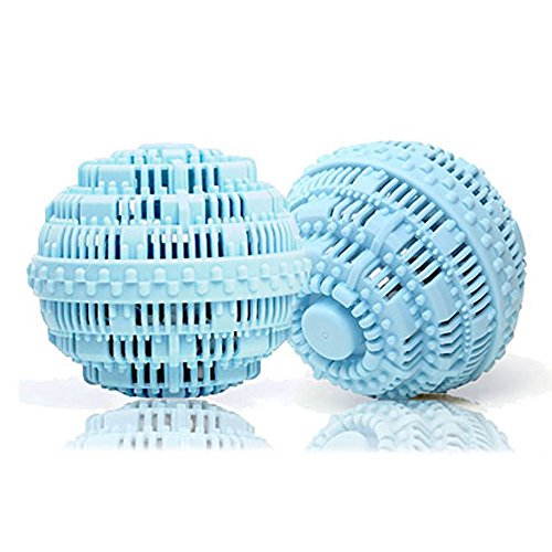 Eco Friendly Wash Ball & Detergent-Free Laundry Ball, Set of 2(Light Blue) ()