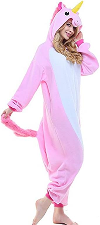 Kenmont Unisex Unicornio Pijamas para Adultos Disfraz Cosplay Animales Ropa de Dormir Halloween Navidad Carnaval
