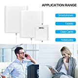 Cell Phone Signal Booster AT&T 4G LTE T-mobile Band17 Band12 Mobile Repeater Amplifier SHWCELL Including Indoor and Outdoor Panel Antennas Cable For Home