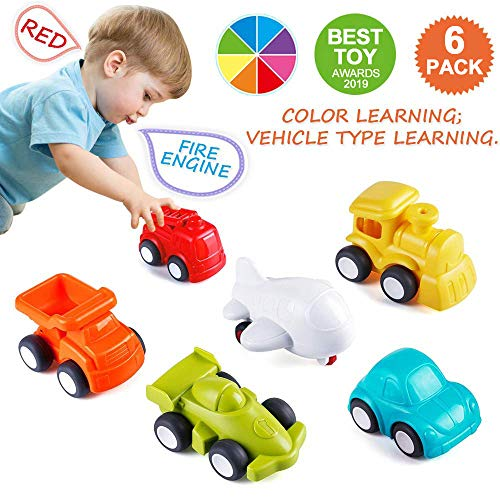 Best Deals! VATOS Toddler Car Toys, 6 Pack Toy Cars for 1 2 Years Old with Free Wheel City Traffic L...