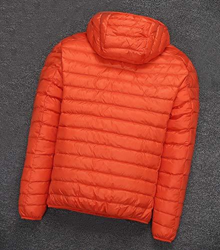 Capucha Naranja Invierno Plumifero De Chaquetas Abrigos Con Hombre ZAwxf