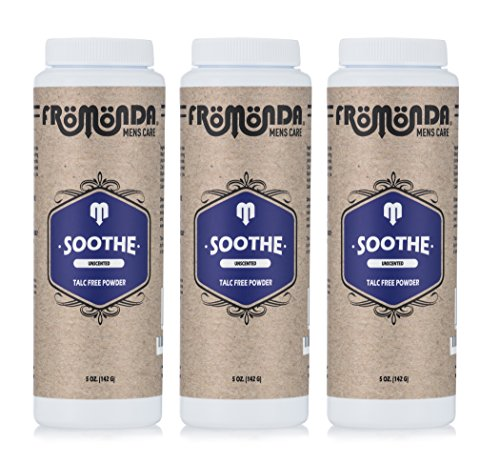 Fromonda Soothe Talc-Free Body Powder - All Natural & Unscented (3 Pack), 5 oz each by Fromonda