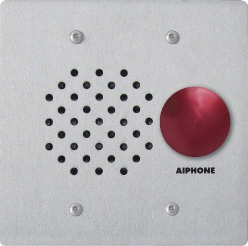 - Aiphone LE-SSR Vandal- and Weather-Resistant Two-Gang Door Station For Use with AP-M, LAF-C, LDF, LEF, LEM, and MP-S Series Intercom Systems
