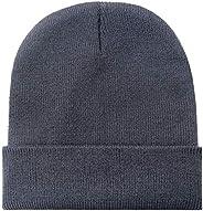 zbrandy Beanie Hats Men Winter Warm Acrylic Knit Cuff Skull Cap Unisex Women Outdoor