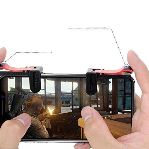 DEESEE(TM) NewPhone Mobile Gaming Trigger Fire Button Handle for L1R1 Shooter Controller (Duracell Quick Charger)