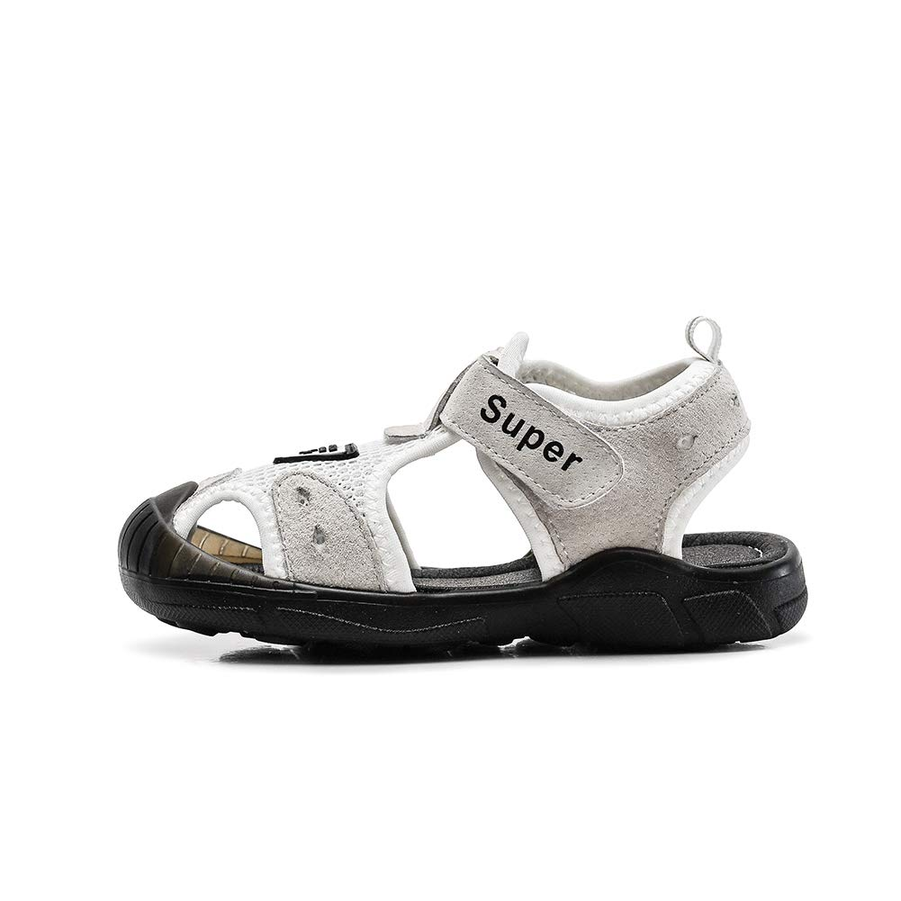 Tuoup Toddler Kids Leather Closed Toe Outdoor Hiking Sandals for Boys
