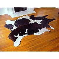 A-STAR(TM)) Western Brown & White Cowhide Rug - Best Cow Hides Area Rug (5 x 7)