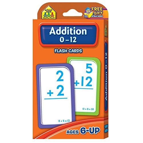 School Zone (12 Pk) Addition 0-12 Flash Cards