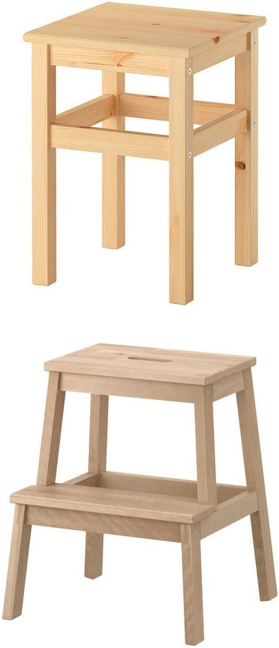 Unbekannt IKEA bekväm taburete y Oddvar taburete de madera maciza: Amazon.es: Juguetes y juegos