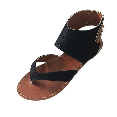 Damen Flach Sandalen Mumuj Mode Sommer Sandalen Sandaletten Casual Rom Stil Sandalen Casual Sandalen Zehentrenner