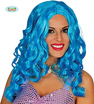 Guirca 4586 - Peluca Rizos Azules (Envase Caja)