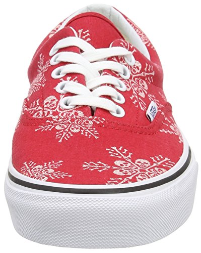 Vans Era, Zapatillas Unisex Adulto Rojo (Van Doren/Skull Snowflake/Racing Red)