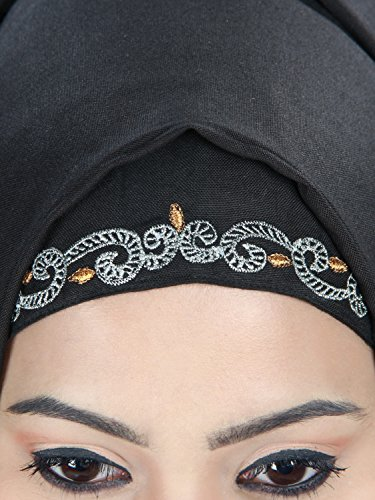 vtements des MyBatua Musulman Abaya AY et Porter Noir 417 Femmes Eid Rayonne Partie qZZ0H4