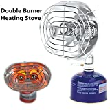 infrared radiation heater - ezyoutdoor Portable Double Head Gas Heater Outdoor Camping Warmer Heater Double Burners Heating Furnace Stove Infrared Ray Gas Heater Tools