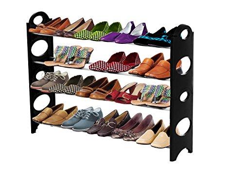 ForHauz Shoe Organizer 20 Pair Storage Rack for - Shoe Organizer Shelving