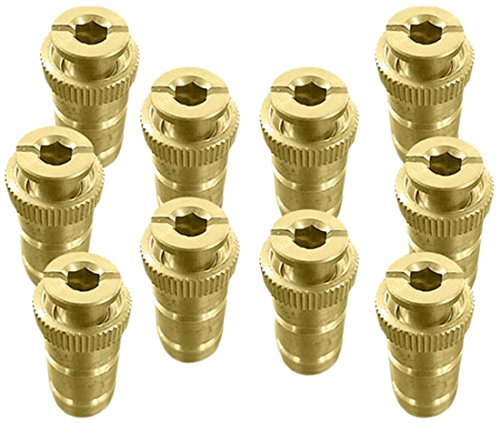 Mistcooling MC5834-VC Anchor for Pool Safety Cover, Brass (Pack of 10)