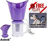 Naulakha 3 In 1 Facial Sauna Steamer , Nose Steamer , Nose Vaporiser , Nozzle Inhaler , Cough Steamer (Purple) FREE WHITE DOG KEYCHAIN INSIDE