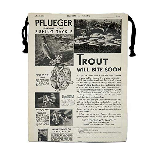 Yellow Fishing Tackle Newsprint Drawstring Bag Bags Sack Pack Tote Kids Sport Storage Polyester Bag for Gym Traveling