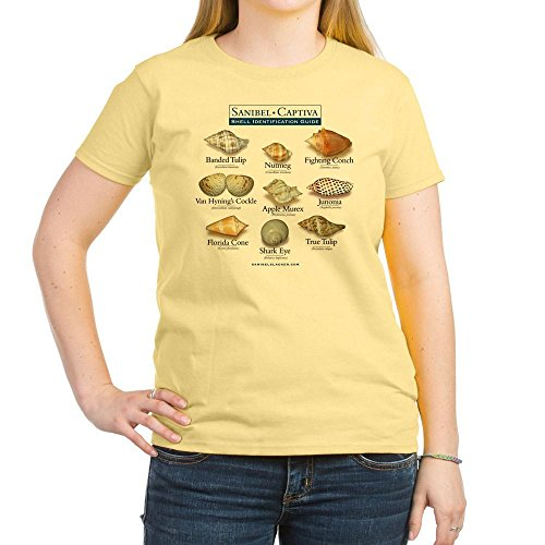 Junonias Seashell (CafePress Shell I.D. Guide - Womens Cotton T-Shirt, Crew Neck, Comfortable & Soft Classic Tee)