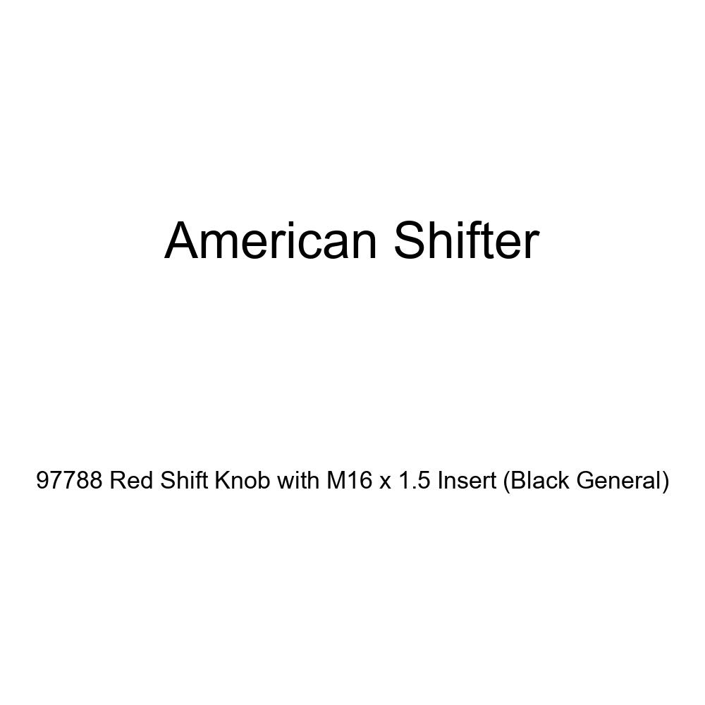 Black General American Shifter 97788 Red Shift Knob with M16 x 1.5 Insert