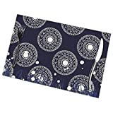 Jearvy Amelia Shepherd Scrub Cap Rectangular Table Placemats Set of 6 Table Mats, Good Vibes Skid-Proof Heat-Resistant Stain Resistant Kitchen Mats for Dining Table Easy to Clean 18 X 12 in