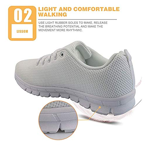 HMML Eyes Printing Mens Sneakers Mesh Lightweight Breathable Running Walking Gym Shoes