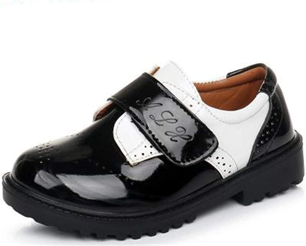 Flyingdogs Fashion British Style Student Wedding Party Shoes Casual Children Leather Shoes Black 5M US