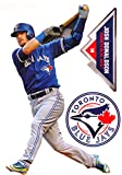 "Josh Donaldson Mini FATHEAD + Toronto Blue Jays Logo Official MLB Vinyl Wall Graphics 7"" INCH"