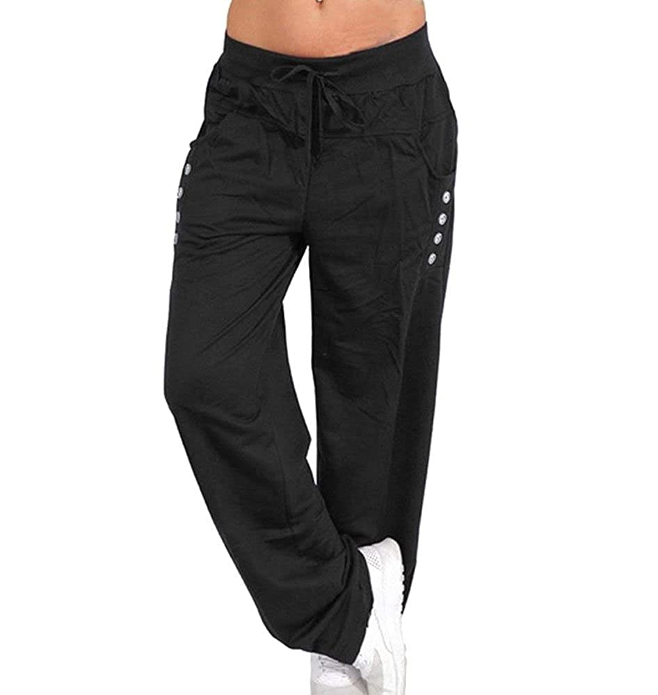 Keephen Pantaloni lunghi da uomo, pilates, fitness, allenamento, casual, lounge, sonno, pantaloni di arti marziali