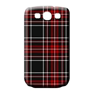 samsung galaxy s3 covers Style pattern mobile phone skins black red plaids