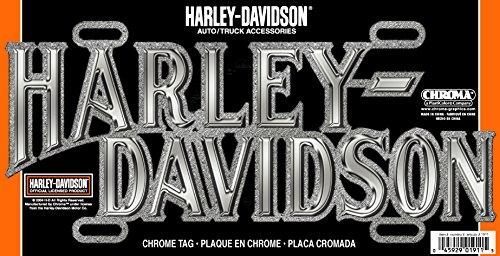 - Chroma 1911 Chrome Harley-Davidson Die-Cast License Plate Frame