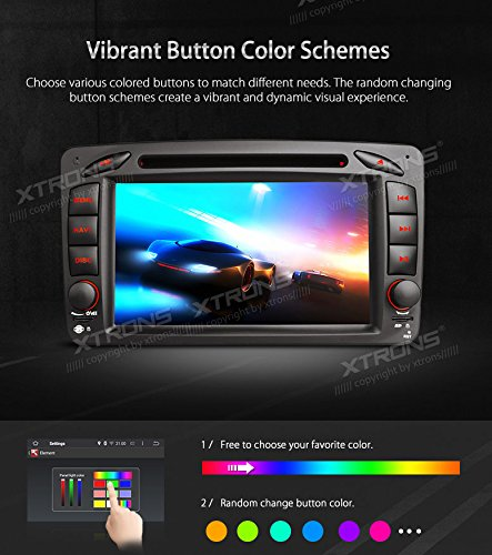 XTRONS Android 6.0 Octa-Core 64Bit 7 Inch Capacitive Touch Screen Car Stereo Radio DVD Player GPS CANbus Screen Mirroring Function OBD2 Tire Pressure Monitoring for Mercedes Benz W203 W209 W463 by XTRONS (Image #5)