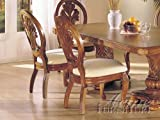 Cheap Set of 2 Dining Chairs Medium Oak Finish