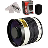 Opteka 500mm / 1000mm f/6.3 HD Telephoto Mirror Lens for Canon EF-M EOS-M / EOS-M3 Compact Digital Mirrorless Cameras