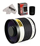 Opteka 500mm / 1000mm f/6.3 Telephoto Mirror Lens for Canon EOS 80D, 70D, 60D, 60Da, 50D, 40D, 30D, 1Ds, Mark III II, 7D, 6D, 5D, 5DS, Rebel T6s, T6i, T6, T5i, T5, T4i, T3i and T3 Digital SLR Cameras