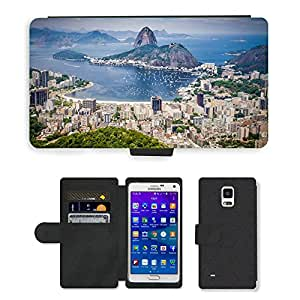 Super Stella Cell Phone Card Slot PU Leather Wallet Case // M00421794 Rio De Janeiro Brasil Mountain // Samsung Galaxy Note 4 IV