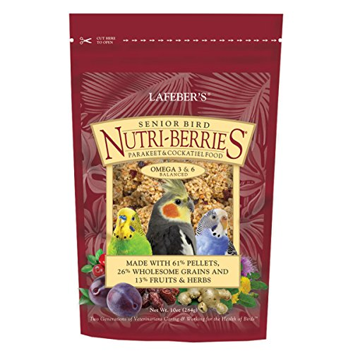 Berry Parakeet (LAFEBER'S Senior Bird Nutri-Berries for Parakeet & Cockatiel 10 oz)