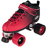 New2016!! Riedell Red and Black Dart Ombre Roller Skate for Indoor Skating