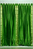 Indo Forest Green Tab Top Sari Sheer Curtain 43 in. x 84 in. – Piece Review